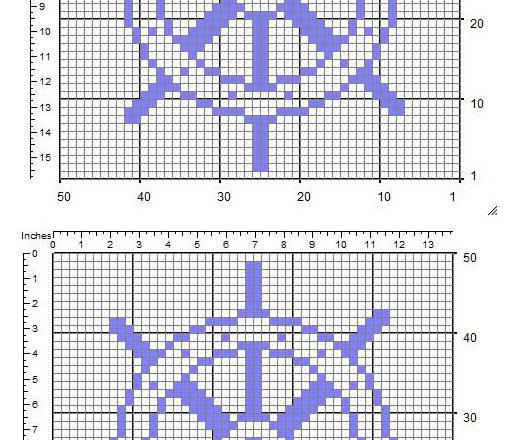 A rudder free simple crochet filet pattern insert