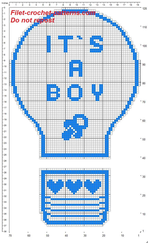 Birth bow balloon free filet crochet pattern (2)