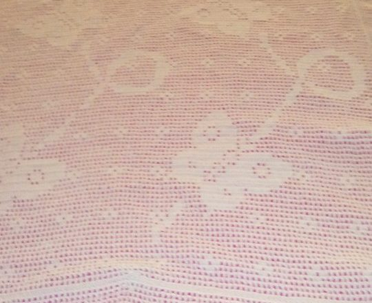 Crochet filet baby blanket with flying butterflies by Facebook Fan Maria Rosaria Notari (2)