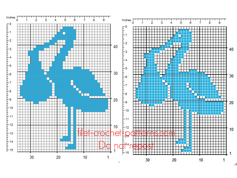 Crochet filet insert pattern stork delivering male baby