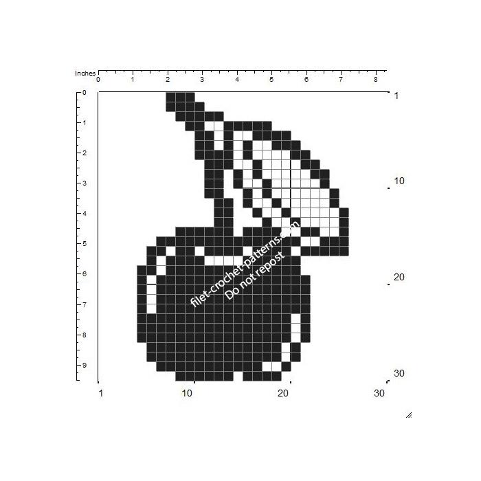Crochet filet potholders cherry shape free pattern