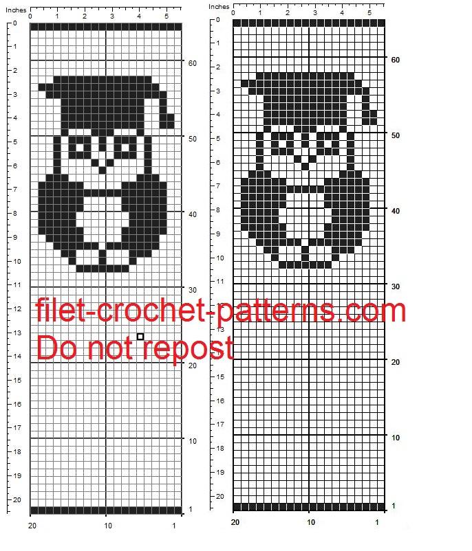 Favor bag with owl free filet crochet pattern