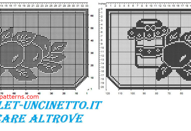 Filet crochet border jam and fruit free pattern download