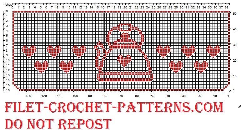 Filet crochet border kettle kitchen