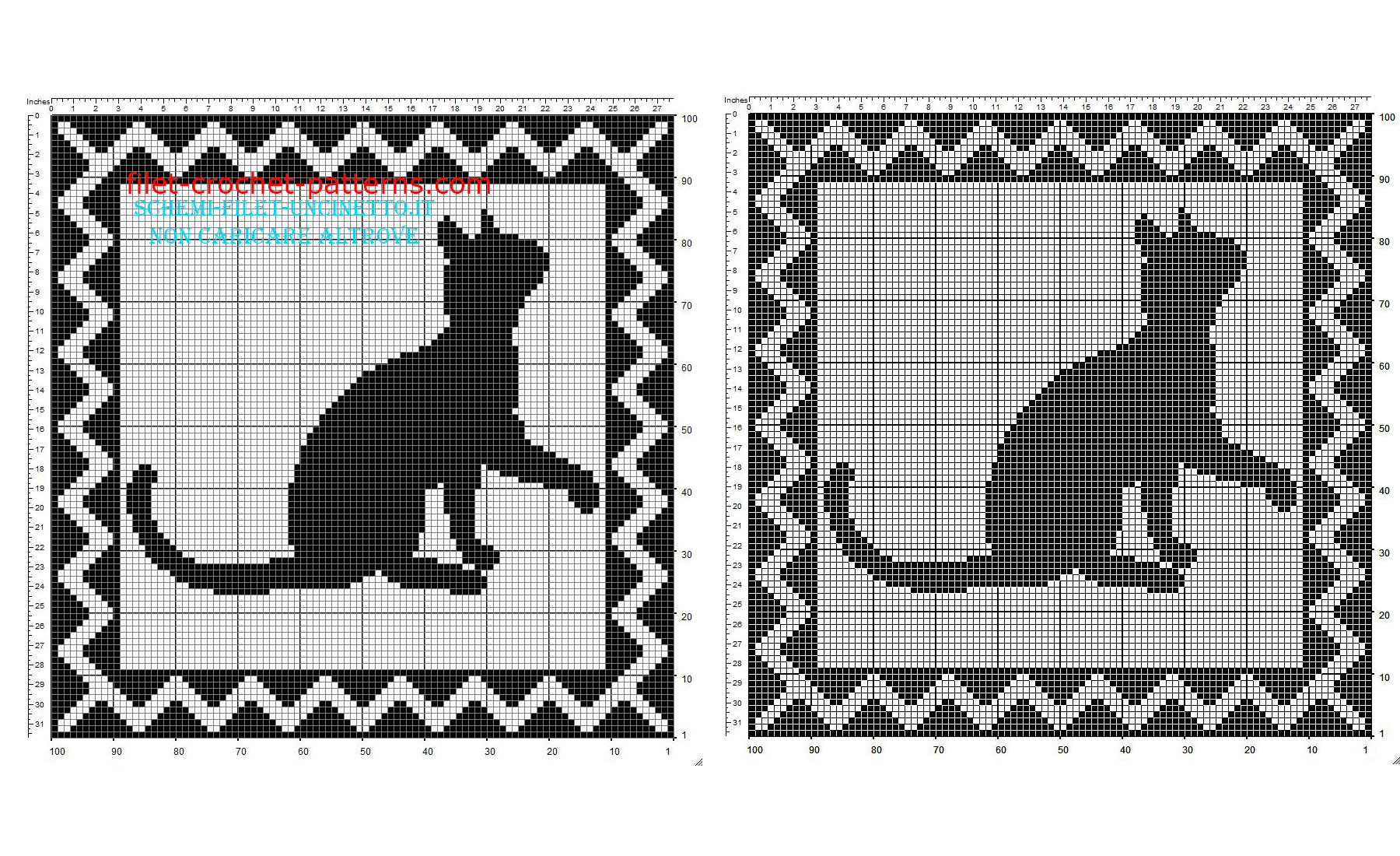Filet crochet square doily with cat shadow free download