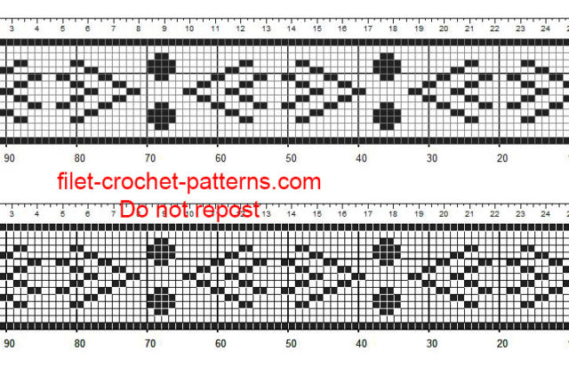 Free crochet filet borders patterns aztec pattern 2 free download