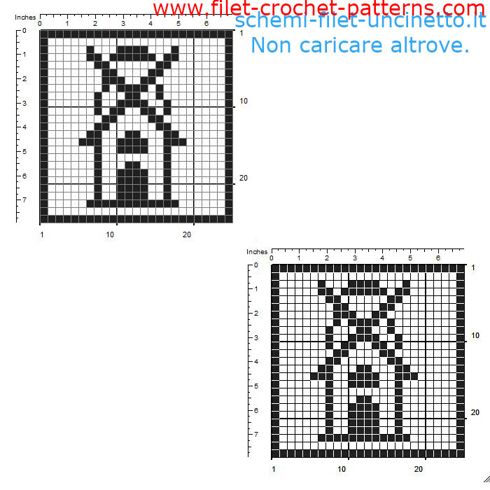 Free filet crochet coaster with a windmill free download 25 squares