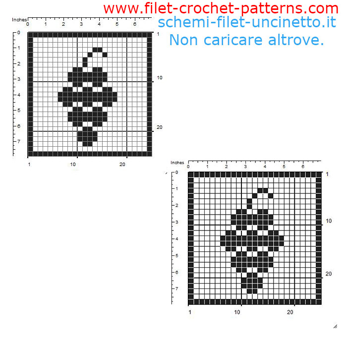 Free filet crochet coaster with bunch of grapes free pattern download 25 squares