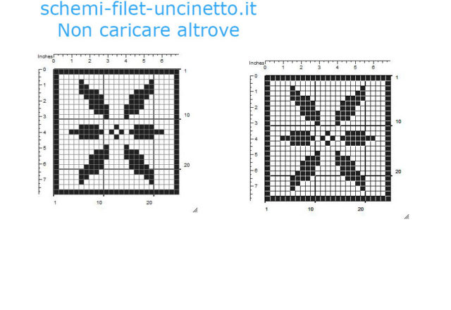 Free filet crochet coaster with flower free pattern download 25 squares