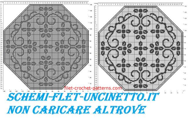 Free octagonal filet crochet pattern doily