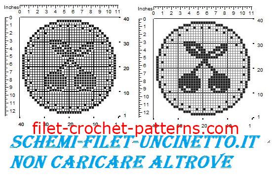 Jar cover cherries free filet crochet pattern