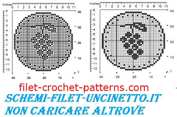 Jar cover grapes free filet crochet pattern