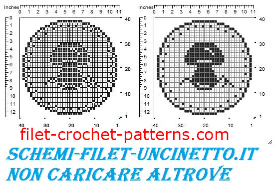 Jar cover mushroom free filet crochet pattern