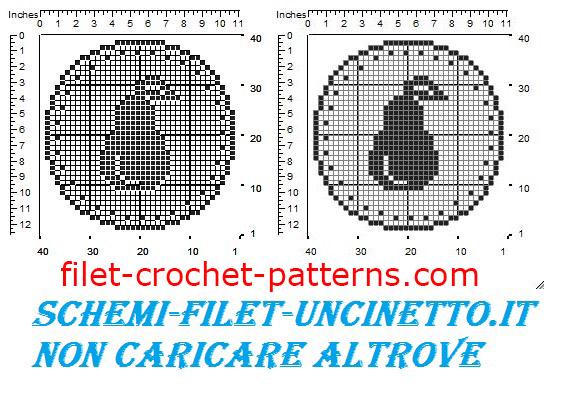 Jar cover pear free filet crochet pattern