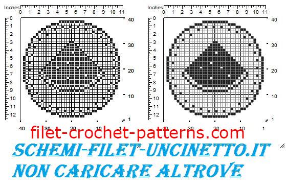 Jar cover watermelon free filet crochet pattern