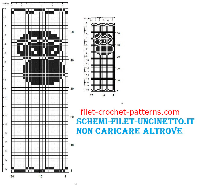 Oyster favor bag free filet crochet pattern (2)