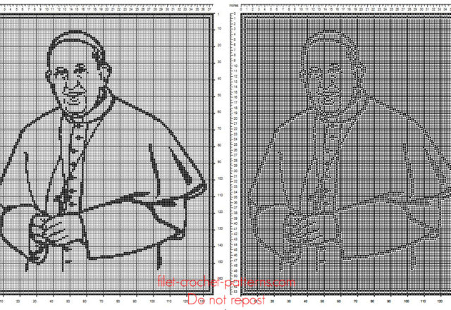 Pope Francis free pattern download filet crochet home painting idea