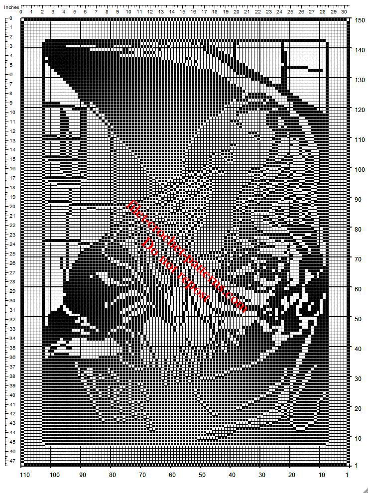 Saint Agatha of Sicily free filet crochet pattern