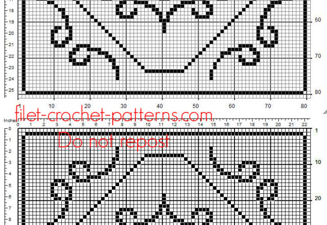 Square doily free crochet filet pattern with a flower in the middle