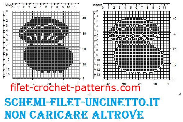 Wedding ring pillow oyster free filet crochet pattern (2)